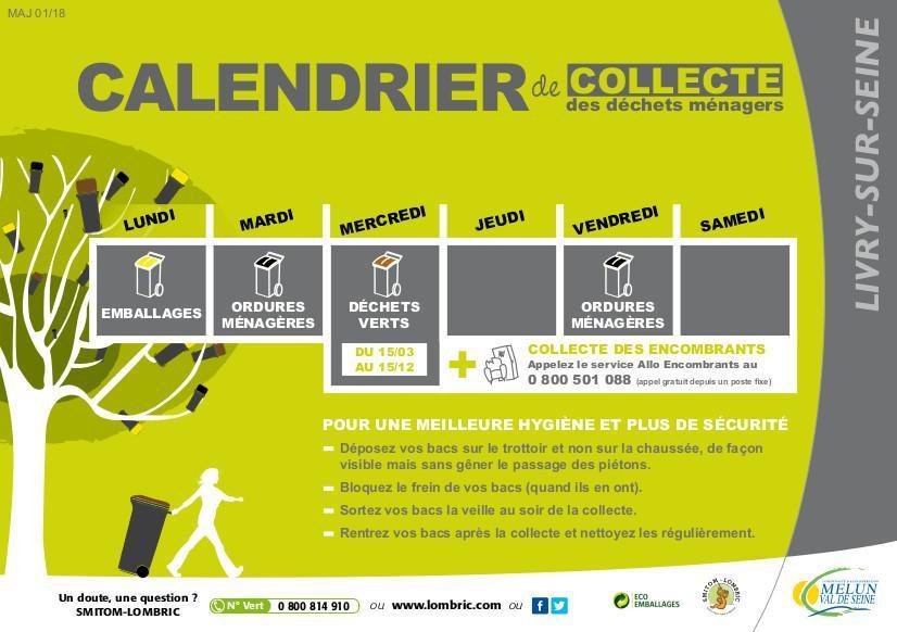 calendrier collecte déchets