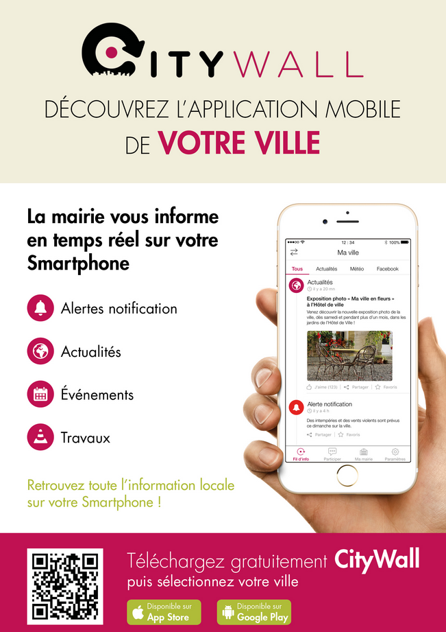Flyer application mobile Citywall