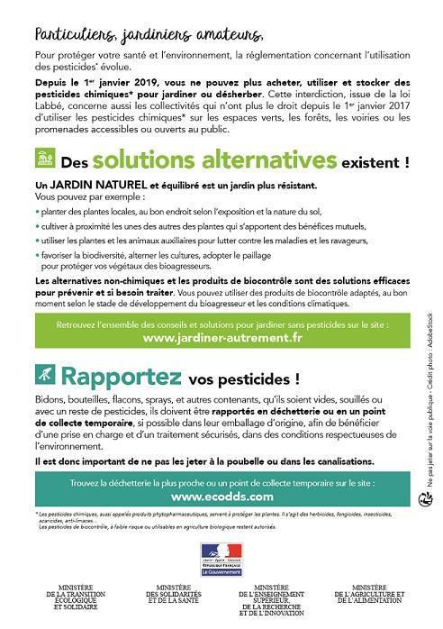 "Flyer verso Campagne ""Zéro pesticide"" 2019"