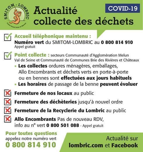 Affiche SMITOM COVID-19 Actualités collecte 2020