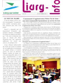 Couverture Livry Info n° 47