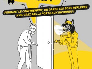 Affiche Coronavirus attention aux vols par ruse !